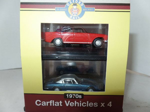 Oxford Rail 76CPK002 CPK002 Carflat Set Pack of 1970'S Cars 1/76 OO Scale